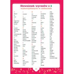 Ortograficzne zadania z wyrazami do zapamiętania RZ-Ż