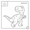Kolorowanka z kredką. Dinozaury