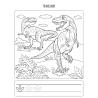 Kolorowanka ze szlaczkiem. Dinozaury